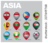 asia countries   part  two | Shutterstock .eps vector #237649768