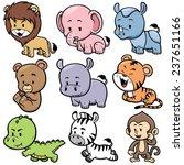 vector illustration of  animals ... | Shutterstock .eps vector #237651166