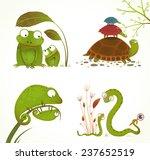 cartoon reptile animals parent... | Shutterstock . vector #237652519