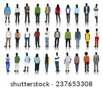 silhouettes of casual people... | Shutterstock .eps vector #237653308