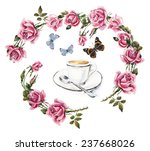 coffee time. cup with coffee... | Shutterstock . vector #237668026
