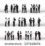 silhouettes of business people... | Shutterstock .eps vector #237668656