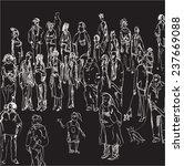 hand drawn illustration of a... | Shutterstock . vector #237669088