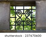 Window With Decorative Iron Bars