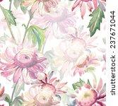 garden flower seamless pattern | Shutterstock . vector #237671044