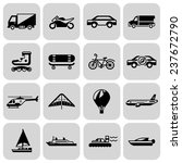 transport black icons set with... | Shutterstock . vector #237672790