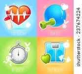healthy lifestyle  keep fit... | Shutterstock . vector #237674224