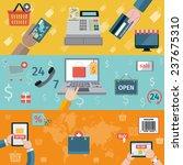 e commerce banners flat set of... | Shutterstock . vector #237675310