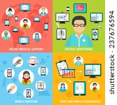 mobile health online medical... | Shutterstock . vector #237676594