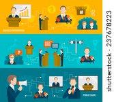 public speaking banner set of... | Shutterstock . vector #237678223