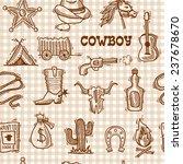 wild west cowboy seamless... | Shutterstock . vector #237678670