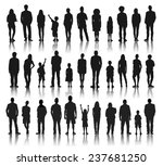 silhouettes group of people in... | Shutterstock .eps vector #237681250