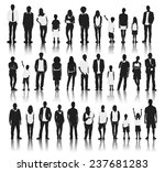 silhouettes of casual people in ... | Shutterstock .eps vector #237681283