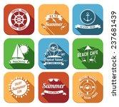 summer sea retro vacation... | Shutterstock . vector #237681439
