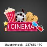 cinema ticket filmstrip award... | Shutterstock . vector #237681490
