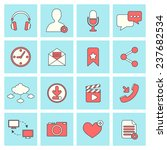 social network icons flat line... | Shutterstock . vector #237682534