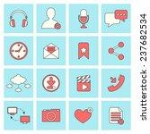 social network icons flat line... | Shutterstock . vector #237682534