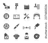 auto car service icons black... | Shutterstock . vector #237683026