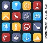 nautical sea travel flat icons... | Shutterstock . vector #237683560