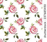rose  watercolor  background   Shutterstock . vector #237685450