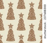 seamless pattern with christmas ... | Shutterstock . vector #237688300