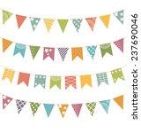 set of multicolored flat... | Shutterstock . vector #237690046