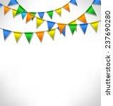 multicolored bright buntings...   Shutterstock . vector #237690280