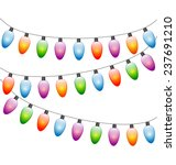 multicolored led christmas... | Shutterstock . vector #237691210