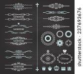 vintage frames  dividers ... | Shutterstock .eps vector #237693676