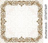 vintage invitation card. | Shutterstock .eps vector #237697669