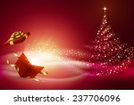 opened gift box  with abstract... | Shutterstock .eps vector #237706096