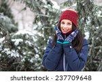 beautiful young girl smiling in ... | Shutterstock . vector #237709648