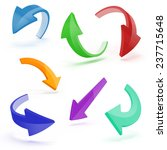 3d arrows on white background | Shutterstock . vector #237715648