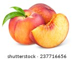 Peach. fruit with slice...