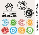 no animals testing sign icon.... | Shutterstock .eps vector #237719044