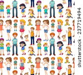 wrapping paper with kids and... | Shutterstock .eps vector #237719494