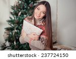 beautiful young woman with... | Shutterstock . vector #237724150