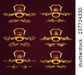 set of luxury gold borders ... | Shutterstock .eps vector #237724330