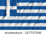 fabric flag of greece | Shutterstock . vector #237737200