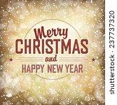 merry christmas card   Shutterstock .eps vector #237737320