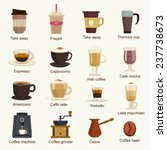 coffee types vector set | Shutterstock .eps vector #237738673