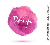 pink watercolor vector stain...   Shutterstock .eps vector #237740134
