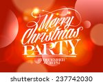 christmas party red design on a ... | Shutterstock .eps vector #237742030