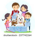 illustration of a family giving ...   Shutterstock .eps vector #237742264