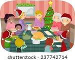 illustration of family friends... | Shutterstock .eps vector #237742714