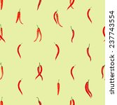 red hot chili peppers pattern | Shutterstock .eps vector #237743554