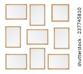 Set Of  Wooden Frames Isolated...
