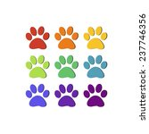 Vector File Of Paw Print