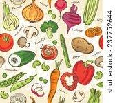 assorted vegetables seamless... | Shutterstock .eps vector #237752644