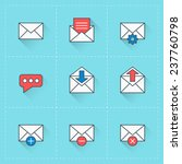 email icons. vector icon set in ...